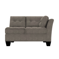 Designed2B Felix Chenille RAF Loveseat Sectional - Milo Pewter