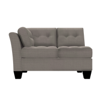 Designed2B Felix Textured Polyester LAF Loveseat Sectional - Plush Pewter