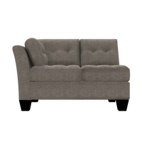 Designed2B Felix Chenille LAF Loveseat Sectional - Milo Pewter
