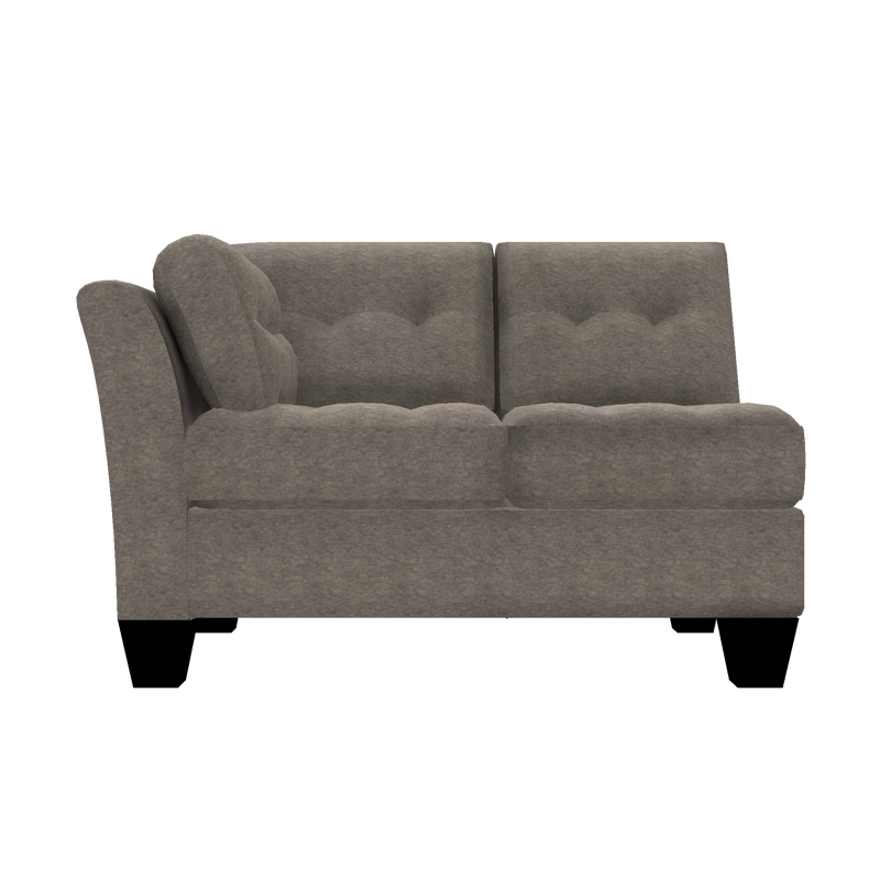 Designed2B Felix Chenille LAF Loveseat Sectional - Milo Pewter - Laf Loveseat Sectional