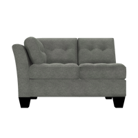 Designed2B Felix Velvet LAF Loveseat Sectional - Kira Platinum