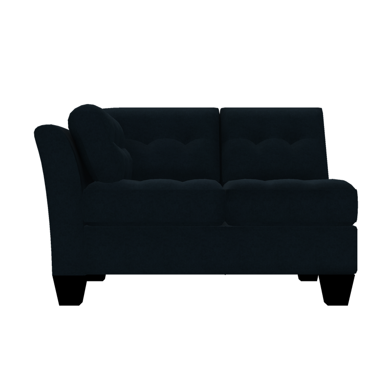 Designed2B Felix Velvet LAF Loveseat Sectional - Kira Royal - Laf Loveseat Sectional