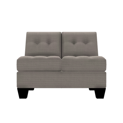 Designed2B Felix Textured Polyester Armless Loveseat - Plush Pewter|Causeuse sans accoudoirs Felix Design à mon image en polyester texturé  - Plush étain|FE252379