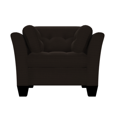 Designed2B Felix Textured Polyester Chair - Plush Chocolate|Fauteuil Felix Design à mon image en polyester texturé  - Plush chocolat|FE302479