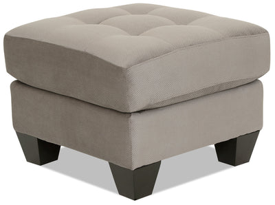 Designed2B Felix Textured Polyester Ottoman - Plush Pewter - {Contemporary} style Ottoman in Plush Pewter {Solid Hardwoods}