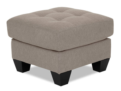 Designed2B Felix Linen-Look Fabric Ottoman - Cabo Smoke - {Contemporary} style Ottoman in Cabo Smoke {Solid Hardwoods}