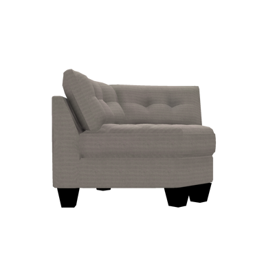 Designed2B Felix Textured Polyester Curved Wedge - Plush Pewter|Fauteuil courbé en coin Felix Design à mon image en polyester texturé  - Plush étain|FE842379