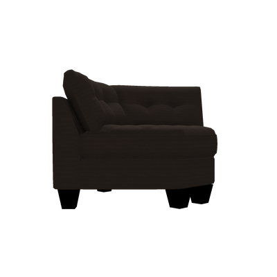 Designed2B Felix Textured Polyester Curved Wedge - Plush Chocolate|Fauteuil courbé en coin Felix Design à mon image en polyester texturé  - Plush chocolat|FE842479