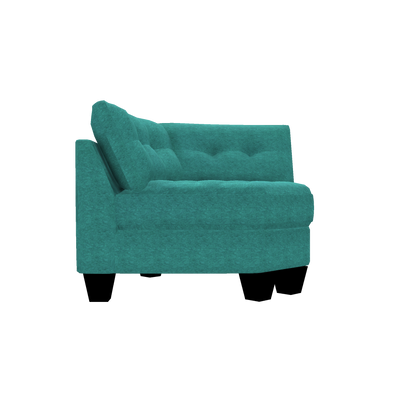 Designed2B Felix Chenille Curved Wedge - Milo Teal - Curved Wedge