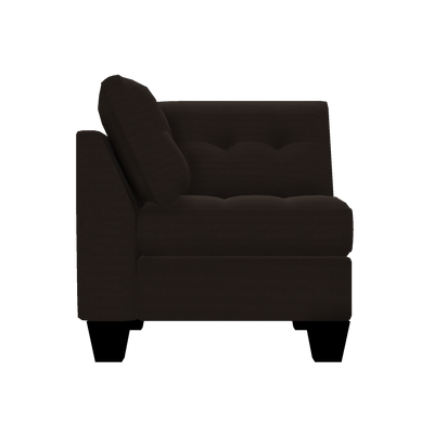 Designed2B Felix Textured Polyester Square Wedge - Plush Chocolate|Fauteuil carré en coin Felix Design à mon image en polyester texturé  - Plush chocolat|FE882479