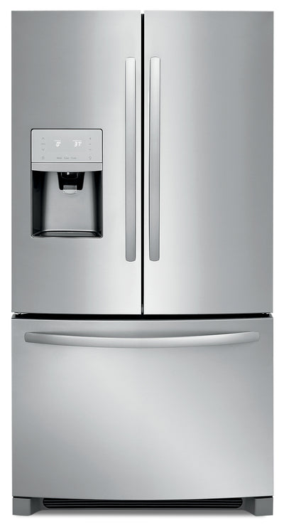 Frigidaire 27.2 Cu. Ft. French Door Refrigerator – FFHB2750TS - Refrigerator with Exterior Water/Ice Dispenser in Stainless Look