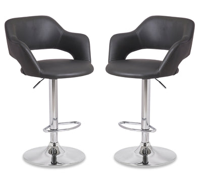 Finn Bar Stool, Set of 2 - Grey|Tabouret bar Finn, ensemble de 2 - gris|FINNGBSP