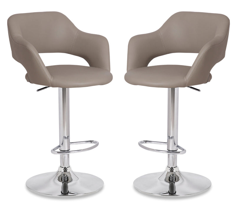 Finn Bar Stool, Set of 2 - Beige - {Modern} style Bar Stool in Beige {Metal}