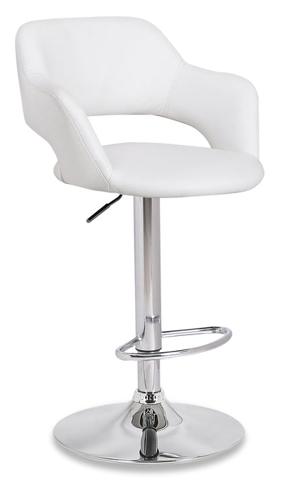 Finn Bar Stool - White - {Modern} style Bar Stool in White {Metal}