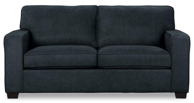 Fiona Chenille Twin-Size Sofa Bed – Navy|Sofa-lit simple Fiona en chenille – bleu marine
