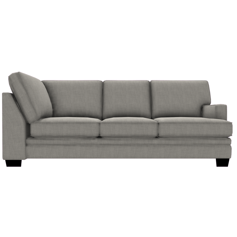 Designed2B Flora Linen-Look Fabric RAF Sofa Return - Cabo Silver - Sectional Component