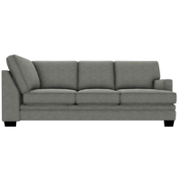 Designed2B Flora Velvet RAF Sofa Return - Kira Platinum
