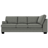 Designed2B Flora Velvet LAF Sofa Return - Kira Platinum