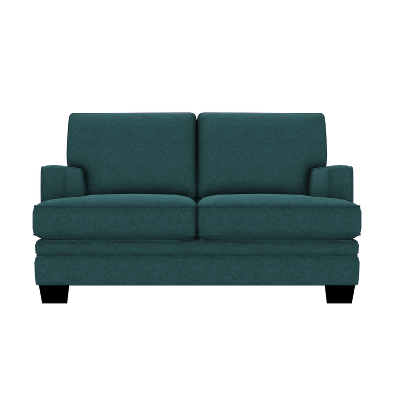 Designed2B Flora Velvet Loveseat - Kira Sea - Loveseat