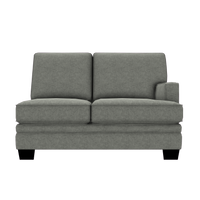 Designed2B Flora Velvet RAF Loveseat Sectional - Kira Platinum