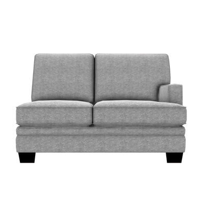 Designed2B Flora Chenille RAF Loveseat Sectional - Milo Linen - Raf Loveseat Sectional