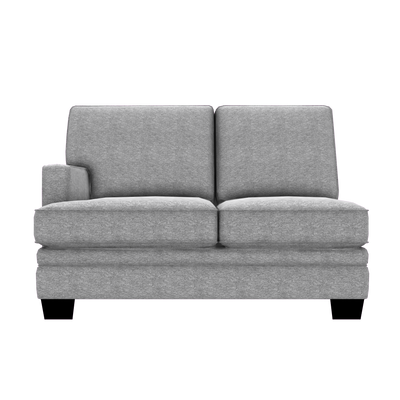 Designed2B Flora Chenille LAF Loveseat Sectional - Milo Linen - Laf Loveseat Sectional