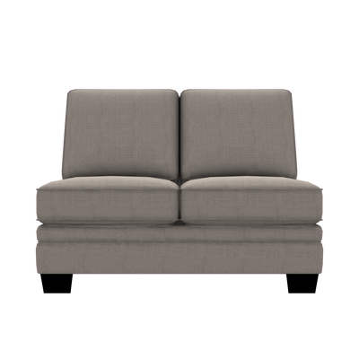 Designed2B Flora Textured Polyester Armless Loveseat - Plush Pewter|Causeuse sans accoudoirs Flora Design à mon image en polyester texturé  - Plush étain|FL252379
