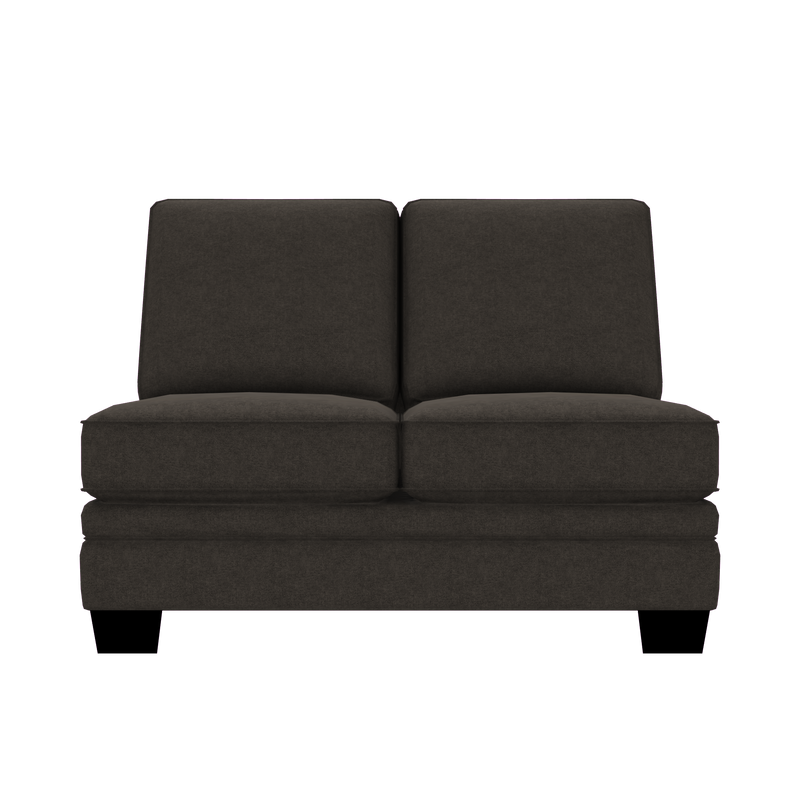 Designed2B Flora Velvet Armless Loveseat - Kira Musk - Armless Loveseat