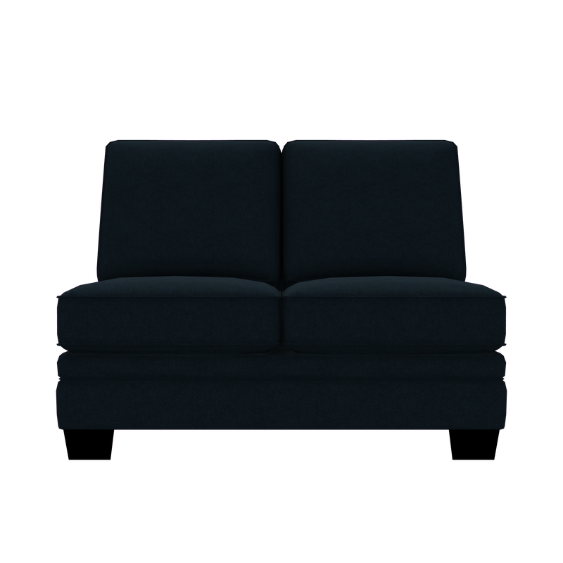 Designed2B Flora Velvet Armless Loveseat - Kira Royal - Armless Loveseat