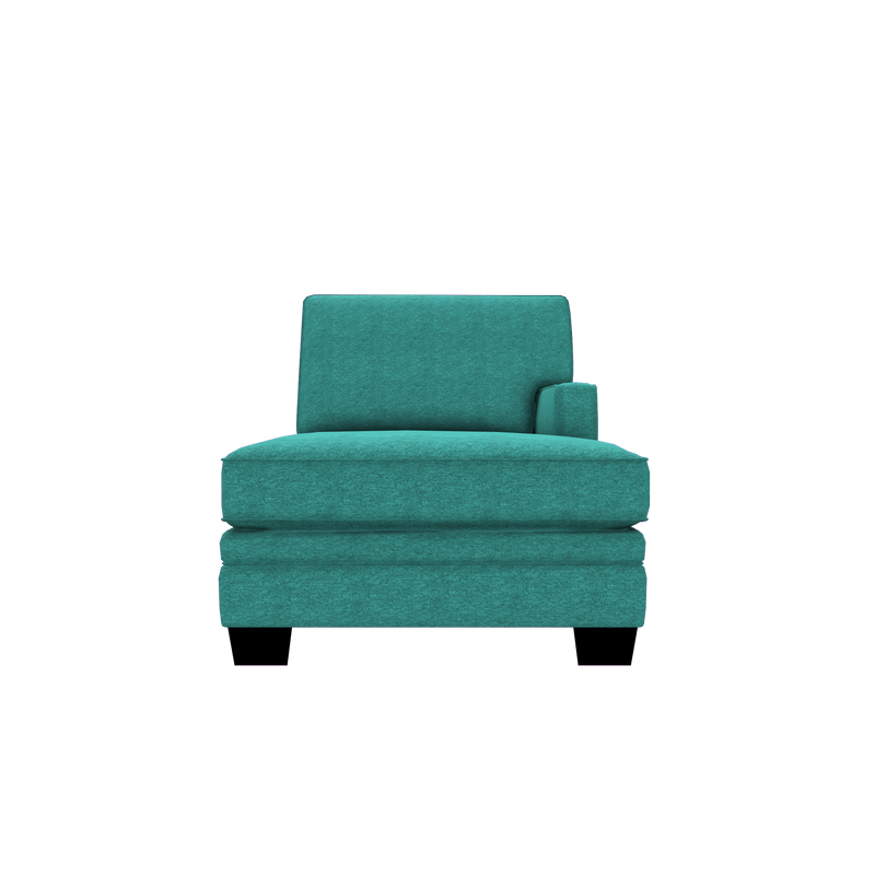 Designed2B Flora Chenille RAF Chaise - Milo Teal - Raf Chaise