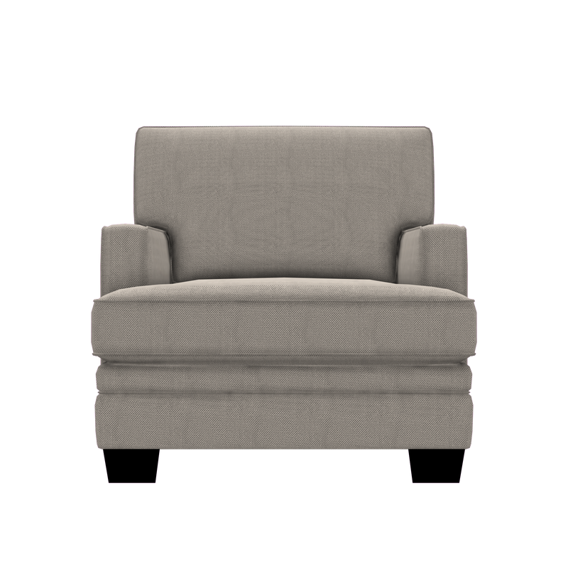 Designed2B Flora Textured Polyester Chair - Plush Ecru - Chair