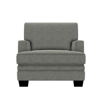 Designed2B Flora Velvet Chair - Kira Platinum