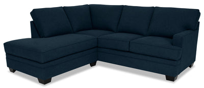 Designed2B Flora 2-Piece Velvet Left-Facing Sectional - Kira Royal|Sofa sectionnel de gauche Flora Design à mon image 2 pièces en velours - Kira bleu roi|FL3188SL