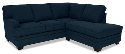 Designed2B Flora 2-Piece Velvet Right-Facing Sectional - Kira Royal|Sofa sectionnel de droite Flora Design à mon image 2 pièces en velours - Kira bleu roi|FL3188SR