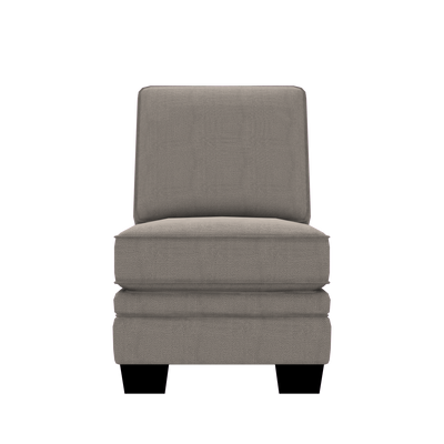 Designed2B Flora Textured Polyester Armless Chair - Plush Pewter|Fauteuil sans accoudoirs Flora Design à mon image en polyester texturé  - Plush étain|FL452379