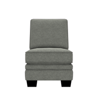 Designed2B Flora Velvet Armless Chair - Kira Platinum