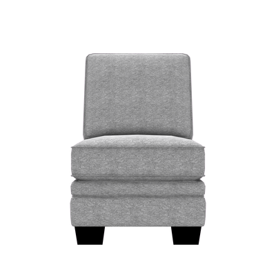 Designed2B Flora Chenille Armless Chair - Milo Linen - Armless Chair