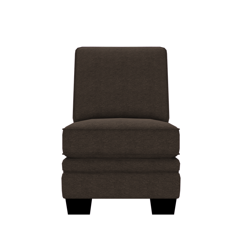 Designed2B Flora Chenille Armless Chair - Milo Espresso - Armless Chair
