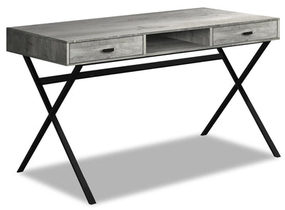 Flynn Reclaimed Wood-Look Desk - Grey|FLYGRDSK