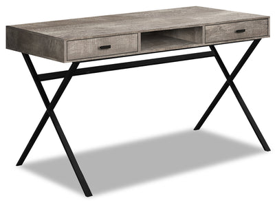 Flynn Reclaimed Wood-Look Desk - Taupe|FLYTPDSK