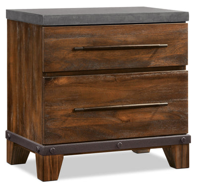 Forge Nightstand - {Rustic} style Nightstand in Rustic Brown