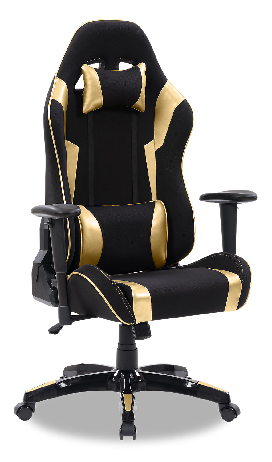 Gamer Chair Black And Gold The Brick