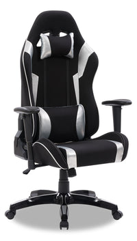 Gamer Chair - Black and Silver
