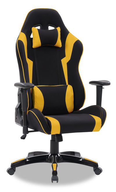 Gamer Chair - Black and Yellow|Fauteuil de jeu - noir et jaune|GAMBYCHR