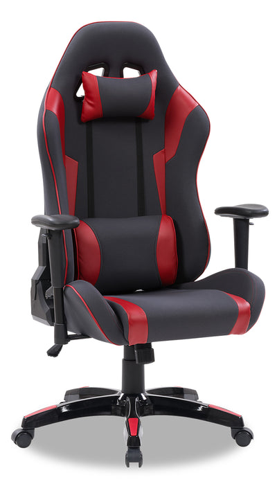Gamer Chair - Grey and Red|Fauteuil de jeu - gris et rouge|GAMGRCHR