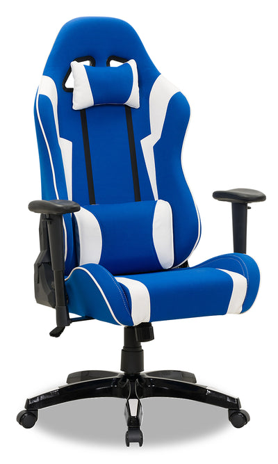 Gamer Chair - Navy and White|Fauteuil de jeu - bleu marine et blanc|GAMNWCHR