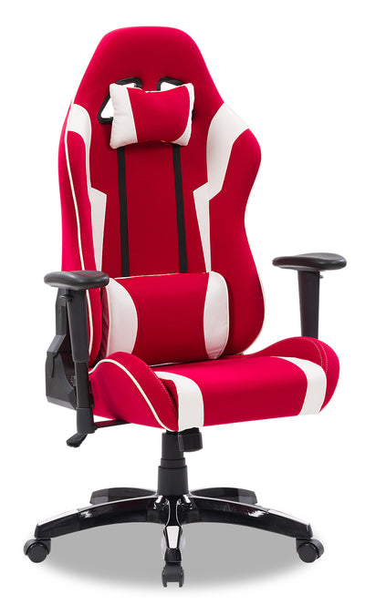 Gamer Chair - Red and White|Fauteuil de jeu - rouge et blanc|GAMRWCHR