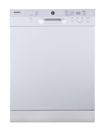 GE Built-In Front Control Dishwasher with Stainless Steel Tub - GBF532SGMWW - Dishwasher in White