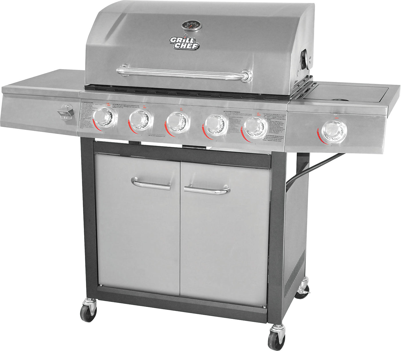 Grill Chef 72000 Btu Dual Fuel Barbecue Gc1088 The Brick