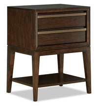 Geo Nightstand with Open Shelving